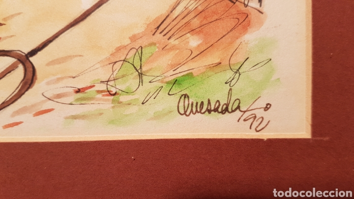 Arte: DIBUJO ACUARELA DE FERNANDO QUESADA PORTO - Foto 3 - 143664042
