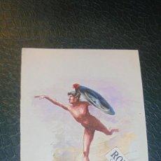 Arte: ANTIGUA ACUARELA AÑOS 20 SIN FIRMAR 18,5X13 CM. . Lote 143701614