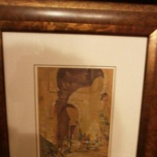 Arte: A LA PUERTA DE LA MEZQUITA - RODRIGO VIVAR (1934 - ....) - ACUARELA.. Lote 143752158