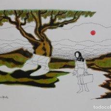 Arte: ACUARELA PEDRO SOBRADO. Lote 144142274