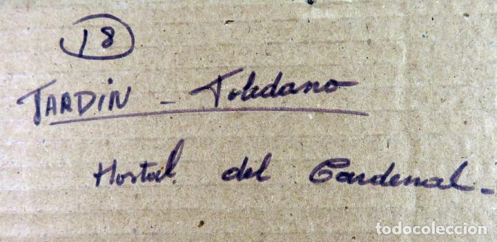 Arte: Acuarela sobre papel Jardín Toledano Hostal del Cardenal Vicente Pastor Calpena (1918-1993) - Foto 10 - 144363090