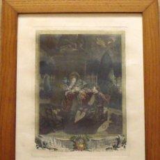 Arte: PIERRE ANTOINE BAUDOIN GRABADO COLOREADO. LE SOIREE DES TUILERIES. FINALES XVIII. GRAVURE. SIMONET.. Lote 144547714