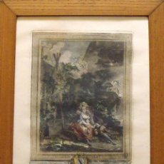 Arte: PIERRE ANTOINE BAUDOIN. GRABADO COLOREADO. LE JARDINIER GALANT. S. XVIII. 1778. GRAVURE. I.HELMAN. Lote 144548046