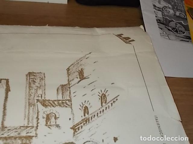 Arte: 8 ACUARELAS DE MARIO CARRARO DE LAS PLAZAS DE ITALIA. ITALIAN AIRLINES. INCLUYE CARPETA. UNA JOYA!!! - Foto 4 - 145157470