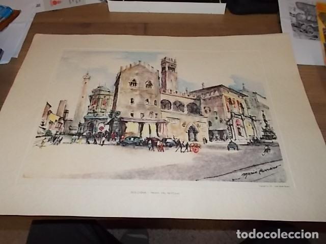 Arte: 8 ACUARELAS DE MARIO CARRARO DE LAS PLAZAS DE ITALIA. ITALIAN AIRLINES. INCLUYE CARPETA. UNA JOYA!!! - Foto 8 - 145157470