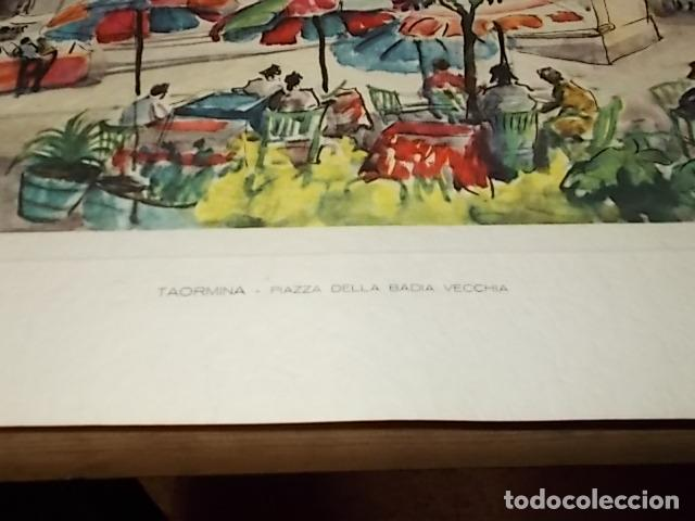 Arte: 8 ACUARELAS DE MARIO CARRARO DE LAS PLAZAS DE ITALIA. ITALIAN AIRLINES. INCLUYE CARPETA. UNA JOYA!!! - Foto 11 - 145157470