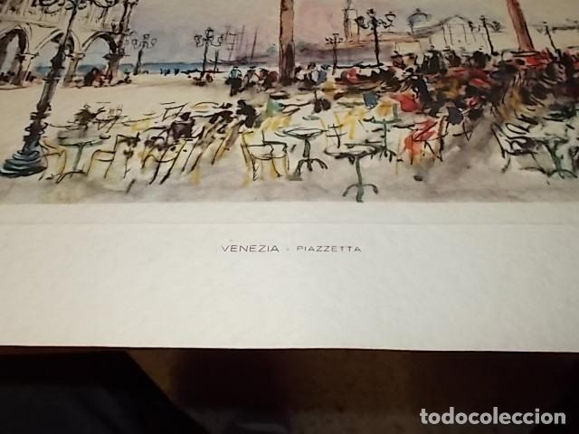 Arte: 8 ACUARELAS DE MARIO CARRARO DE LAS PLAZAS DE ITALIA. ITALIAN AIRLINES. INCLUYE CARPETA. UNA JOYA!!! - Foto 15 - 145157470