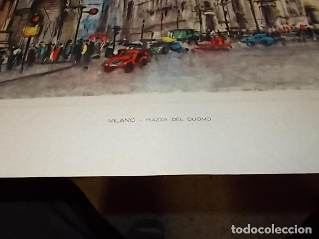 Arte: 8 ACUARELAS DE MARIO CARRARO DE LAS PLAZAS DE ITALIA. ITALIAN AIRLINES. INCLUYE CARPETA. UNA JOYA!!! - Foto 17 - 145157470