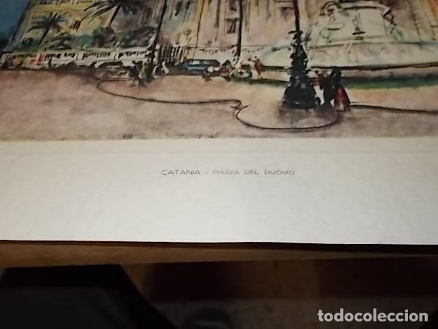 Arte: 8 ACUARELAS DE MARIO CARRARO DE LAS PLAZAS DE ITALIA. ITALIAN AIRLINES. INCLUYE CARPETA. UNA JOYA!!! - Foto 19 - 145157470
