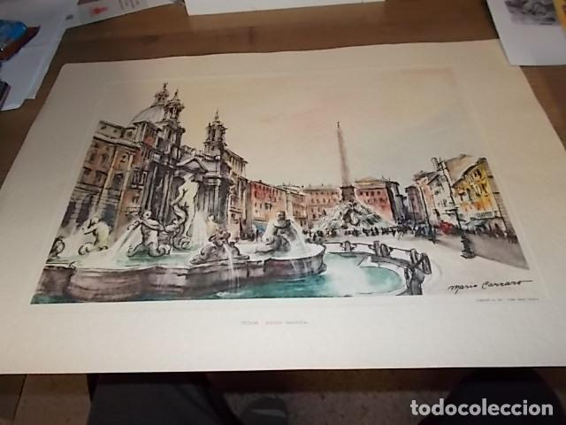 Arte: 8 ACUARELAS DE MARIO CARRARO DE LAS PLAZAS DE ITALIA. ITALIAN AIRLINES. INCLUYE CARPETA. UNA JOYA!!! - Foto 20 - 145157470