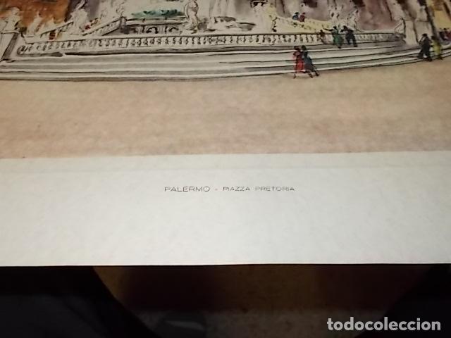 Arte: 8 ACUARELAS DE MARIO CARRARO DE LAS PLAZAS DE ITALIA. ITALIAN AIRLINES. INCLUYE CARPETA. UNA JOYA!!! - Foto 23 - 145157470