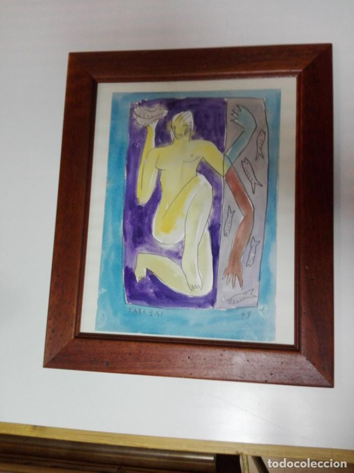 Kunst: cuadro-dibujo/acuarela-jorge cabezas-99-perfecto estado-ver fotos - Foto 2 - 145777750