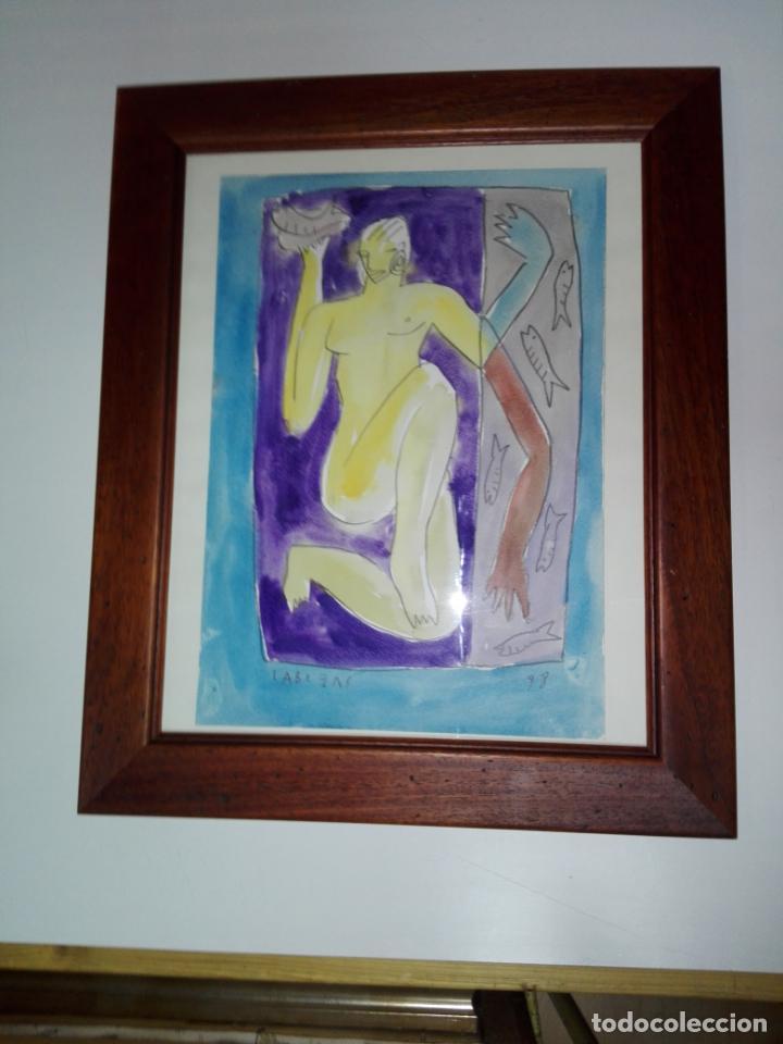 Art: cuadro-dibujo/acuarela-jorge cabezas-99-perfecto estado-ver fotos - Foto 3 - 145777750