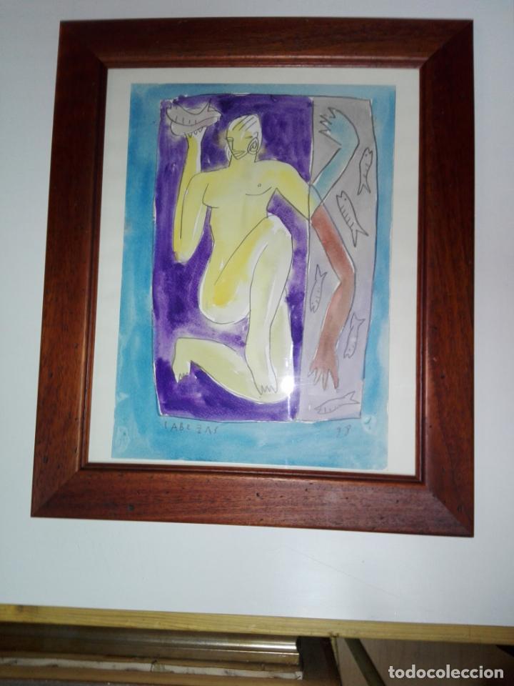 Art: cuadro-dibujo/acuarela-jorge cabezas-99-perfecto estado-ver fotos - Foto 4 - 145777750