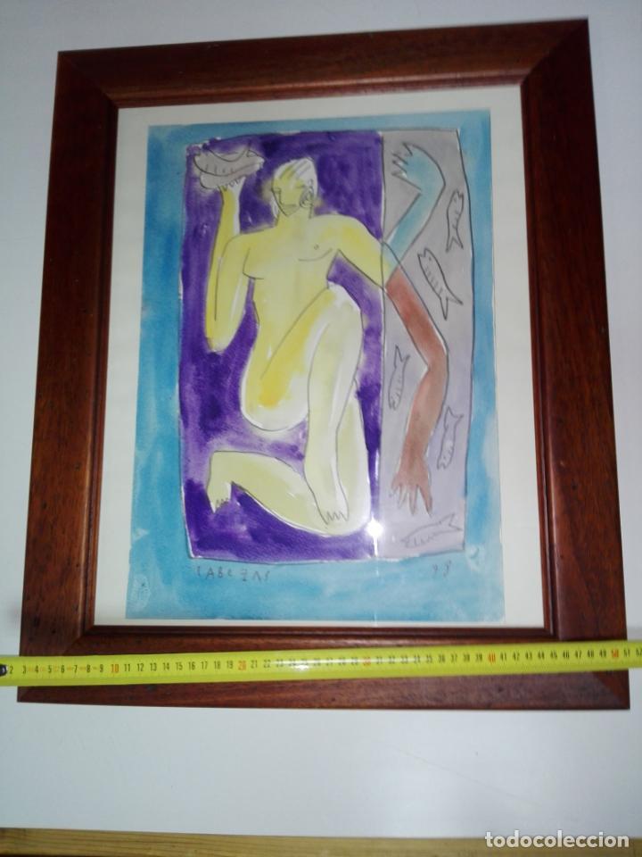 Kunst: cuadro-dibujo/acuarela-jorge cabezas-99-perfecto estado-ver fotos - Foto 5 - 145777750
