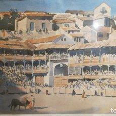 Arte: PLAZA DE TOROS DE CHINCHÓN, DE JOHN PIKE. Lote 145909562