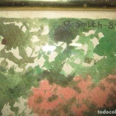 Arte: ANTIGUA ACUARELA ORIGINAL FIRMADA SMITH 1984 CON MARCO Y CRISTAL. Lote 131620526