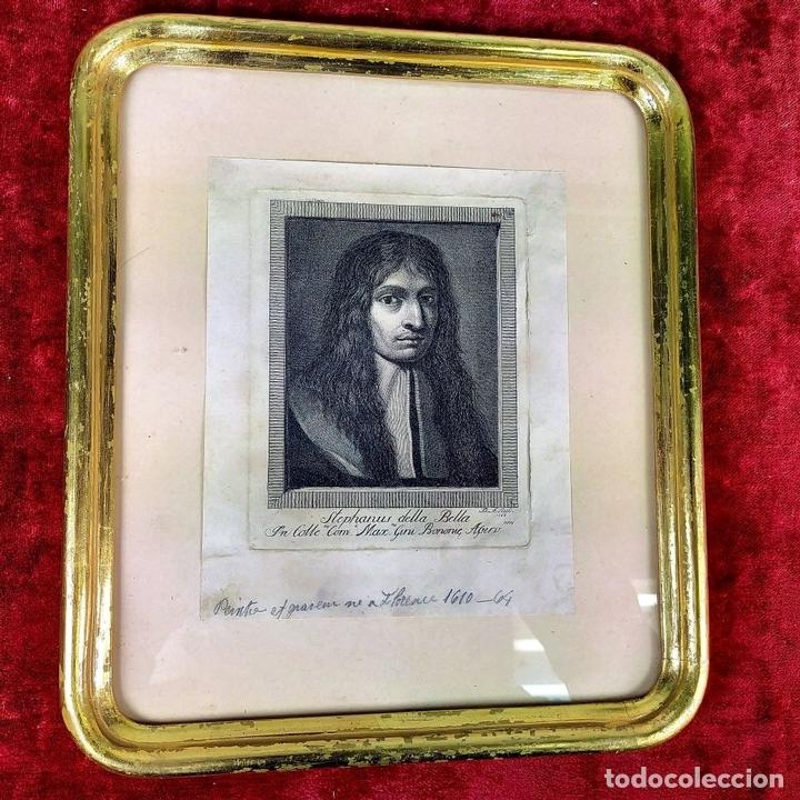 Arte: RETRATO DE STEFFANO DELLA BELLA. GRABADO. GRABADO POR D.A. ITALIA (?). 1788 - Foto 2 - 146397274