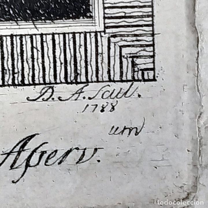 Arte: RETRATO DE STEFFANO DELLA BELLA. GRABADO. GRABADO POR D.A. ITALIA (?). 1788 - Foto 4 - 146397274
