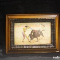 Arte: ACUARELA SERIE CORRIDA DE TOROS DE J. REUS PARRA. Lote 146403342