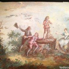 Arte: LAS POMPAS DE JABÓN. CIRCULO DE WATTEAU. S.XVIII. Lote 146403794