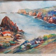 Arte: CALA PRONA CADAQUES POR ESTEBAN FRIGOLA. Lote 146589813