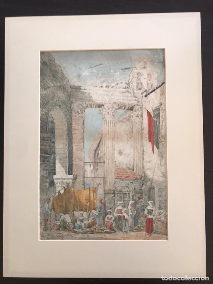 Arte: Acuarela antigua firmada - Foto 6 - 146652769