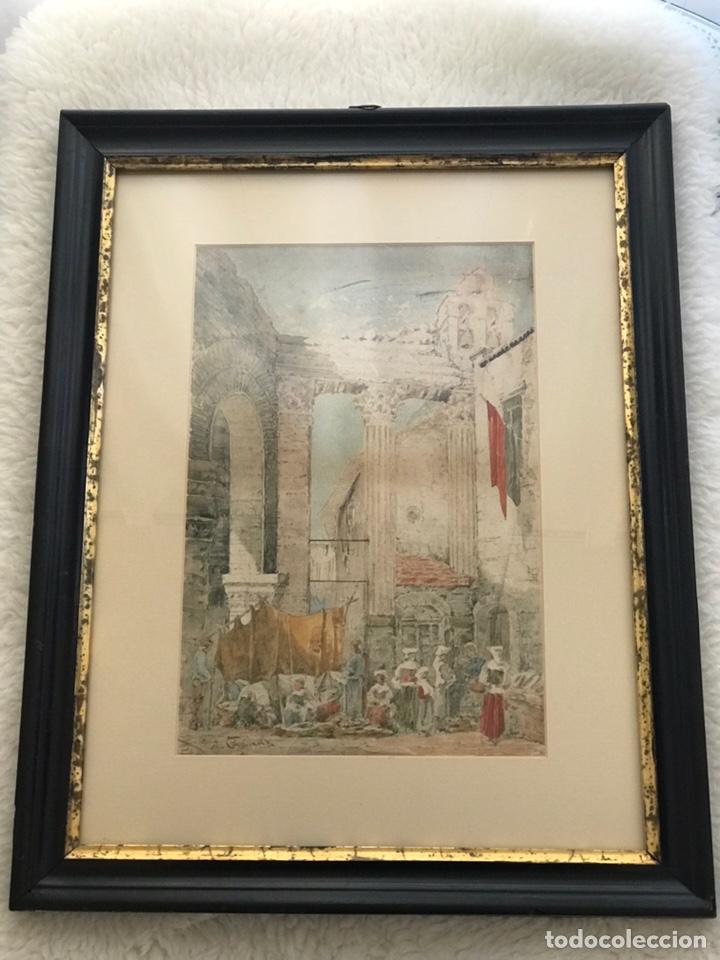Arte: Acuarela antigua firmada - Foto 17 - 146652769