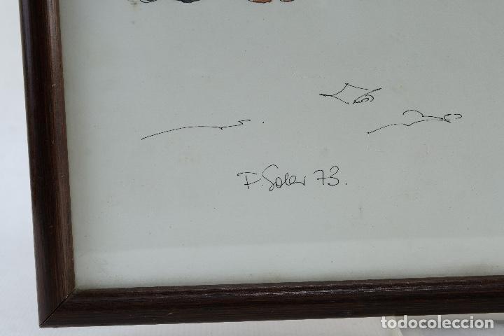 Arte: Pedro Soler Valero Acuarela y tinta sobre papel Escena mercado firmado y fechado 1973 - Foto 7 - 146928926