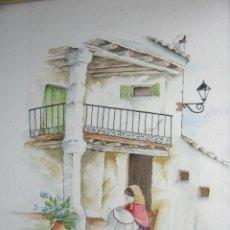 Arte: BORDADORA - INTERESANTE ACUARELA FIRMADA - MALLORCA ?. Lote 146932794