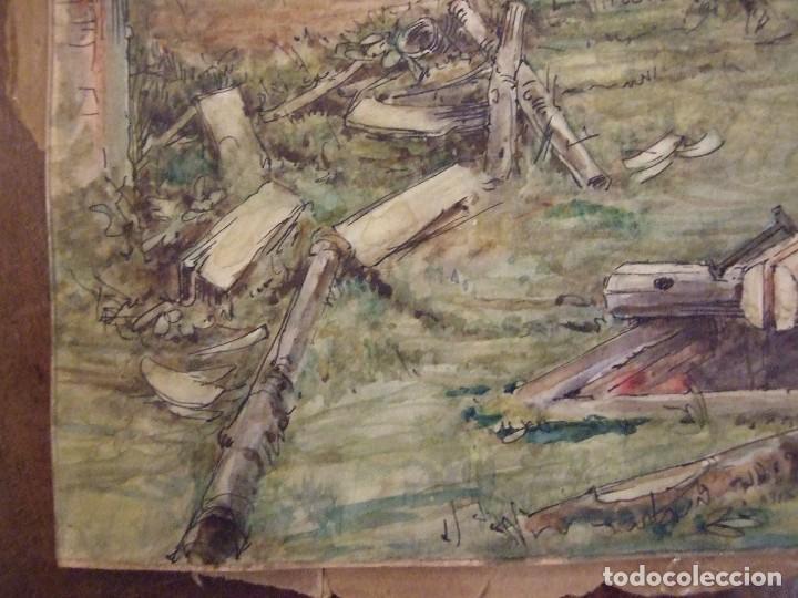 Arte: WILLIAM HENRY - ACUARELA SOBRE CARTON - TEMATICA COSTUMBRISTA - EL ASERRADERO - Foto 5 - 147082354