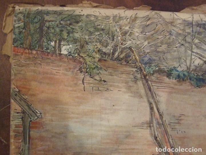 Arte: WILLIAM HENRY - ACUARELA SOBRE CARTON - TEMATICA COSTUMBRISTA - EL ASERRADERO - Foto 6 - 147082354
