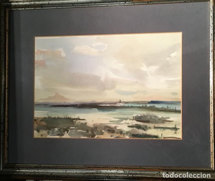 PAISAJE POR JULIO QUESADA (MADRID 1918-209) (Arte - Acuarelas - Contemporáneas siglo XX)