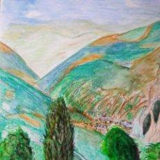 Arte: ACUARELA Y LÁPIZ. SANT JULIA DE LORIA (ANDORRA). Lote 147608858