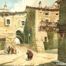 Arte: ALEJANDRO BRIOSO LAFUENTE (HUESCA 1935-2016) ACUARELA CON PAISAJE DEL EXCEPCIONAL ARTISTA OSCENSE. Lote 147727726