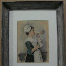 Arte: A. MEDINA, FANTASTICA AGUADA Y GOUACH FIRMADA. Lote 148076082