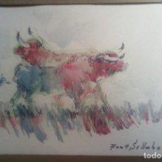 Arte: TAURINA - ACUARELA - FONT SELLABONA .. Lote 148142202