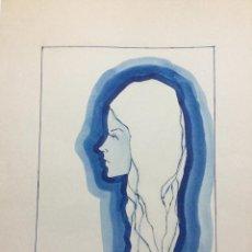 Arte: ACUARELA DE LA SERIE MUJERES DE LA ARTISTA MAITE OCA. Lote 148337274