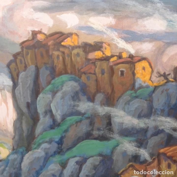 Arte: Acuarela-temple firmado j.vals.buena factura y bien enmarcado. - Foto 3 - 148373782