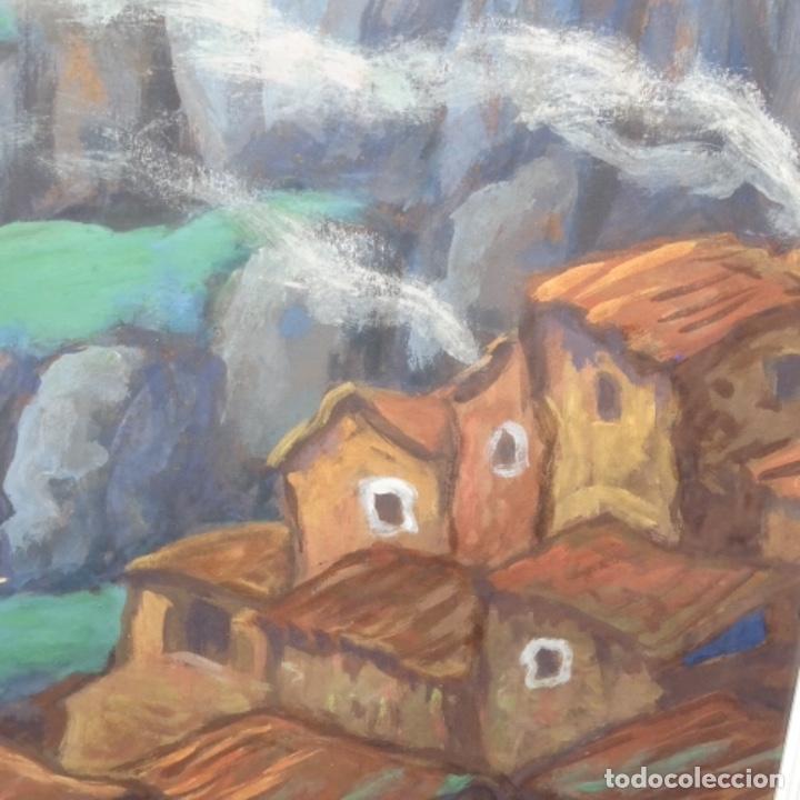 Arte: Acuarela-temple firmado j.vals.buena factura y bien enmarcado. - Foto 4 - 148373782