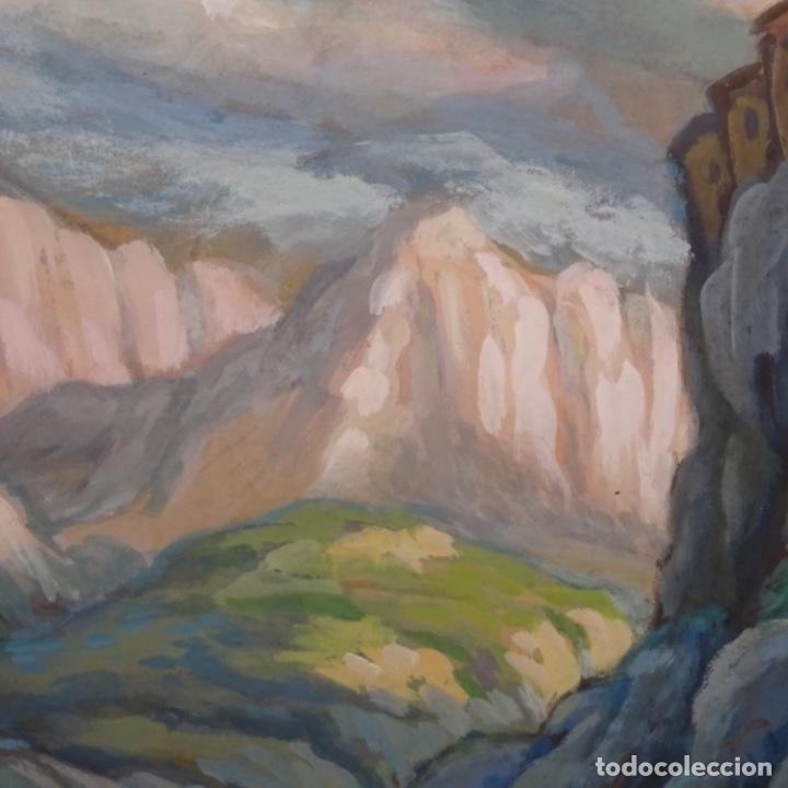 Arte: Acuarela-temple firmado j.vals.buena factura y bien enmarcado. - Foto 5 - 148373782