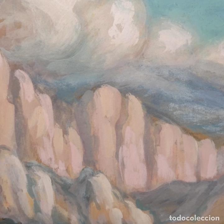 Arte: Acuarela-temple firmado j.vals.buena factura y bien enmarcado. - Foto 6 - 148373782