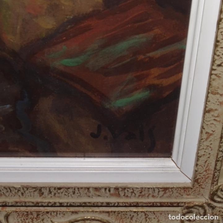 Arte: Acuarela-temple firmado j.vals.buena factura y bien enmarcado. - Foto 8 - 148373782