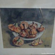 Arte: ACUARELA FIRMADA ABELLO.BODEGON.. Lote 148594538