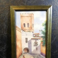 Arte: ACUARELA ANDALUZA SEVIILLA GRANADA FIRMADA CANDELA . Lote 148728470