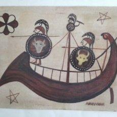 Arte: TECNICA MIXTA - NAVIO GRIEGO. Lote 148773286