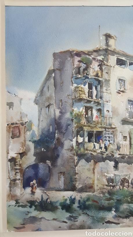Arte: ACUARELA DE JAUME ROCA DELPECH (Vista de Girona) 1948 - Foto 3 - 149206080