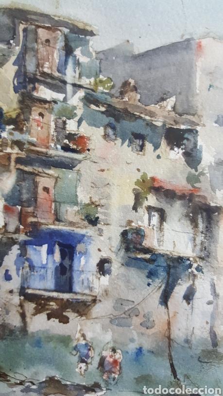 Arte: ACUARELA DE JAUME ROCA DELPECH (Vista de Girona) 1948 - Foto 9 - 149206080