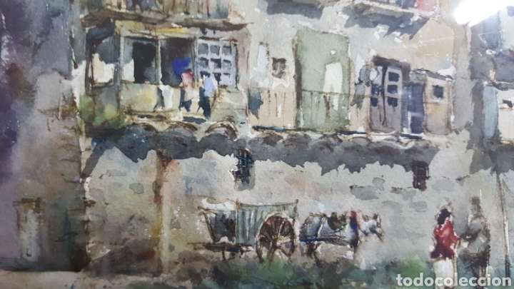 Arte: ACUARELA DE JAUME ROCA DELPECH (Vista de Girona) 1948 - Foto 10 - 149206080