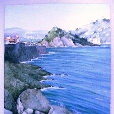 Arte: ACUARELA ORIGINAL, DONOSTI, MARINA.. Lote 149264298